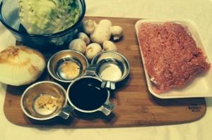 Asian Lettuce Wraps - Ingredients