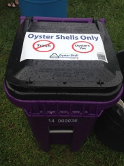 Oyster Shells Recycling Can!