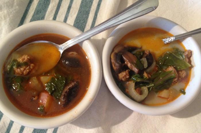 Bratwurst and Kale Soup with Electro Swing - Ready to Enjoy!