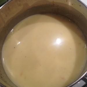 Coconut Saffron Sauce - Simmering