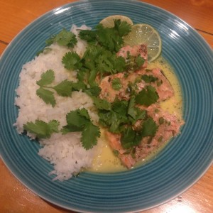 Jalapeño-Garlic-Lime Salmon with Coconut Saffron Sauce - Ready to Enjoy!