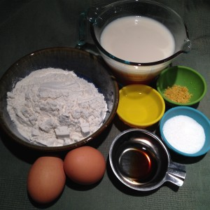 Lemon Vanilla Crepes - Ingredients