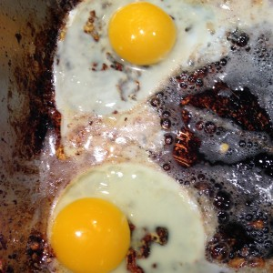 Morning Groove - Eggs Cooking In Christmas Ale Bacon Grease :)