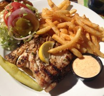 Aruba Beach Cafe - Jerk-style Mahi Mahi Sandwich