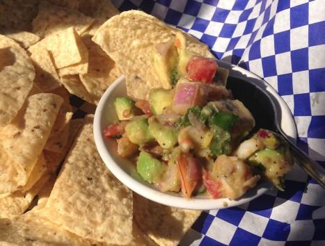 Anglins Beach Cafe - Spicy Shrimp Guac