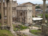 Archway of Septimius Severus in the Roman Forum