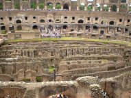 This photo of the inside of the Colosseum is a little better than the outside photo.